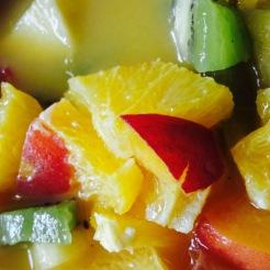 Restaurant B. Bleu - Lyon - Salade de fruits - ©B.Bleu